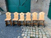 Sitzgruppe aus Massivholz rustikal