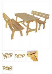 Gartenbank 2 Stk mit Tisch
