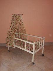 Himmel Holz Puppen Bett auf
