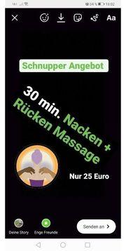 Massage schnupper Angebot für Frauen