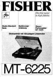Plattenspieler-Stereo FISHER MT-6225