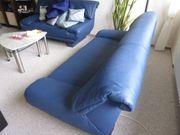 Sitzgruppe Kunstleder Blau