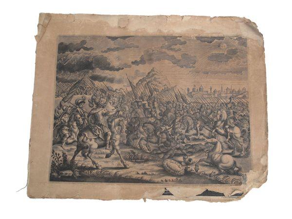11 Originalkupferstiche aus Sammelband Augsburger
