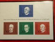 Briefmarken zum 1 Todestag Dr