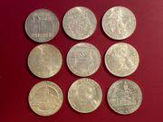 Lot 100 Schilling Silbermünzen Sammlung -