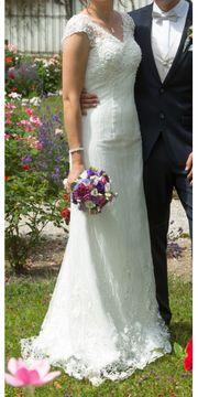 Wunderschönes figurbetontes Brautkleid Gr 36