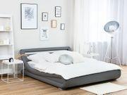Wasserbett Kunstleder grau 140 x