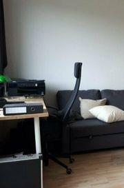 Schreibtisch Birke m 4 weißen