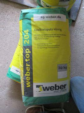2x 30 kg Edelkratzputz Weber Top 204 4mm grobkörnig weiss