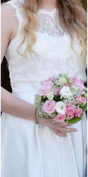 Brautkleid Standesamt weiß Größe L