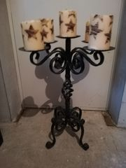 Kerzenständer schmiedeeisern schwer für 5