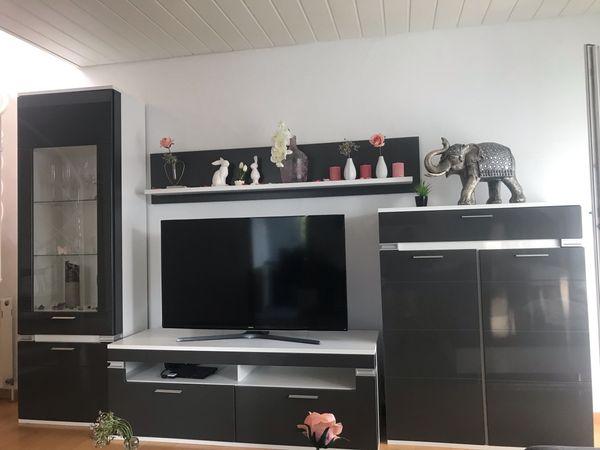 Schone Moderne Wohnwand Hochglanz Anthrazit Fast Neu In Esslingen Am