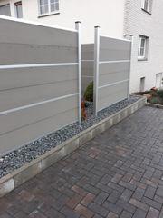 WPC Zaun mit aluminium Pfosten