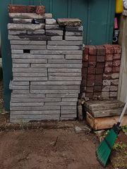Verschenke Terrassen platten und Pflastersteine