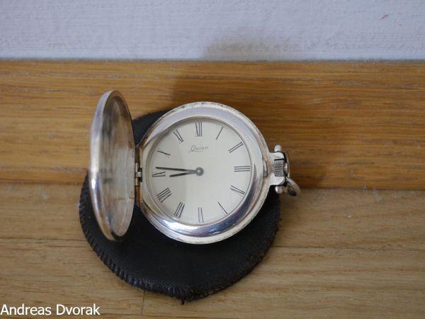 Elegante Silber Taschenuhr ( Savonette ) vom