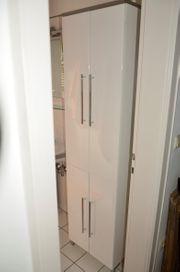 Badschrank Hochglanz Weiß