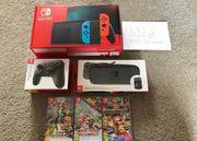 Nintendo Switch Konsole 3 Spiele