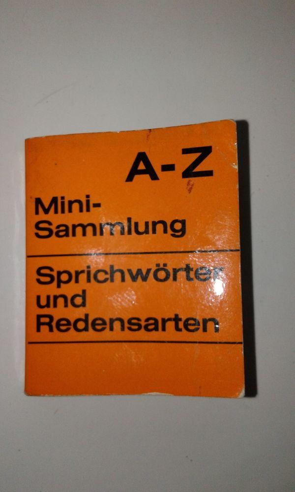 Sprichwörter und Redensarten Mini-Sammlung Buch