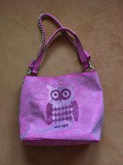 Handtasche pink lila mit Strasssteinen
