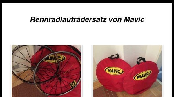 Rennradlaufrädersatz von Mavic