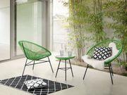 Rattanmöbel Set Kunststoff grün ACAPULCO
