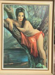60er Jahre Kunstdruck Waldfee