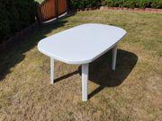 Gartentisch oval weiss 135 x