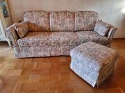 Sofa 3 Sitzer mit Puff