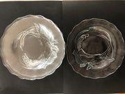 5 Glasteller Obstteller Platzteller Dekoteller