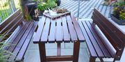 Gartentisch mit 2 Bänken