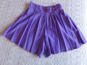 Mädchenbekleidung - Rock Hosenrock lila Gr