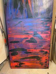 Riesiges Acrylbild zwei Meter hoch