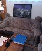 Sofa Garnitur 3-2-1 Wohnzimmer zu