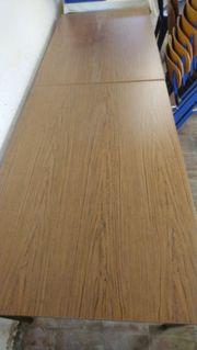 Holztisch mit Metallbeinunterbau 2 Stück