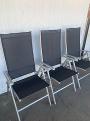 6x Alu Garten-Stühle klappbar Terasse