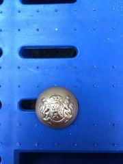 6x goldfarbene Knöpfe mit Wappenmotiv