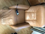 Elektrisch verstellbarer Leder-Fernsehsessel