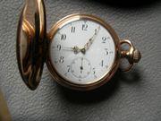 Goldene Taschenuhr 585 3 Deckel