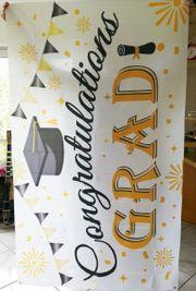 Neu Banner Dekoration für Abschlussfeier