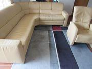 Himolla Eck-Leder-Couch inkl Sessel Longlife