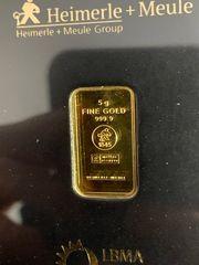 5g Goldbarren im Blister