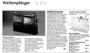 Siemens Weltempfänger Cassette RK 670