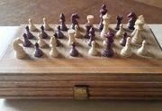 Schach Backgammon Miniaturausgabe Rarität in