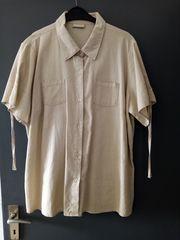 Leinen-Bluse naturfarben Gr 2XL mit