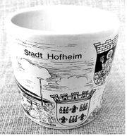 Wächtersbach Porzellan-Becher mit Zeichnung Stadt
