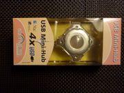 USB Mini Hub 4 fach