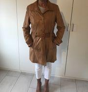 Damen Ledermantel italienisches Design