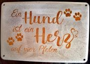 DIY Betondeko Schild Hund Herz