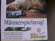 Bitburger-Werbeschild