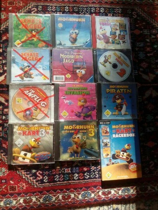 9 verschiedene Moorhuhn PC Spiele